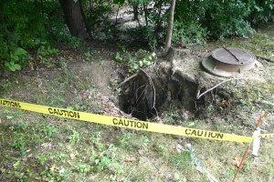 13. Large Sink Hole